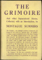 The Grimoire And Other Supernatural Stories